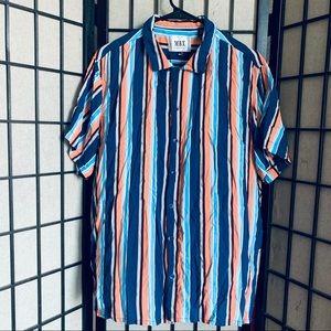MBX cabana collection striped button up shirt XL